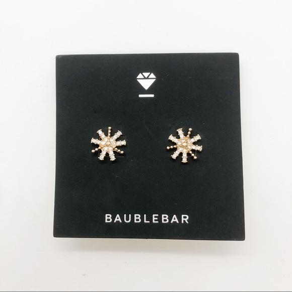 BaubleBar Gold Star Stud Earrings
